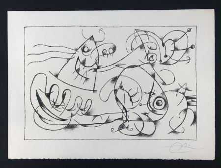 Litografía Miró - Ubu Roi (King Ubu ) from 'Suites por Ubu Roi'