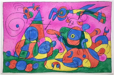 Litografía Miró - UBU ROI : LA MERE UBU ET LE TZAR (1966).