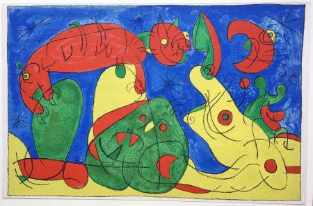 Litografía Miró - UBU ROI : LA NUIT L'HEURE (1966).