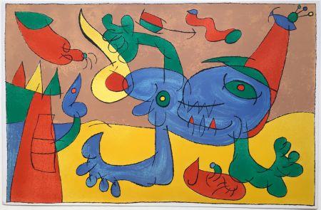 Litografía Miró - UBU ROI : LE MASSACRE DU ROI DE POLOGNE (1966).