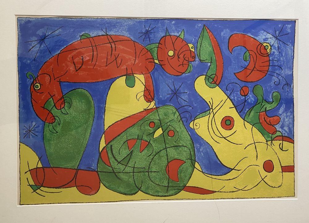 Litografía Miró - UBU Roi (plate 11)