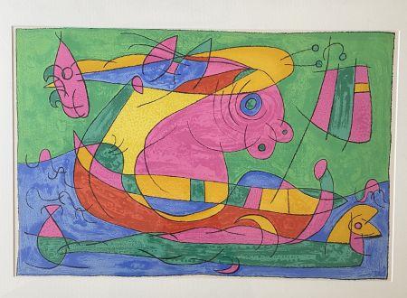 Litografía Miró - UBU Roi (plate 13)
