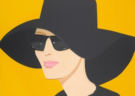Litografía Katz - Ulla In Black Hat
