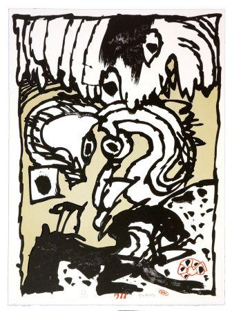 Litografía Alechinsky - Un
