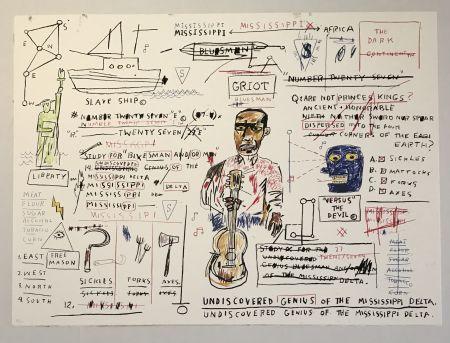 Serigrafía Basquiat - Undiscovered Genius