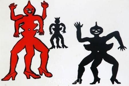 Litografía Calder - Une famille de là bas