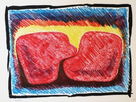Litografía Serrano - Unidad en rojo