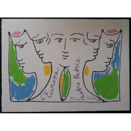Litografía Cocteau - Union européenne