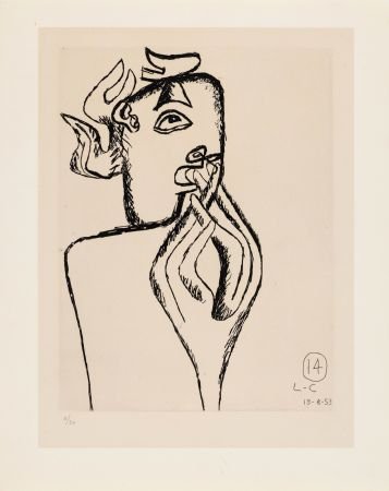 Aguafuerte Le Corbusier - Unité. Planche 14