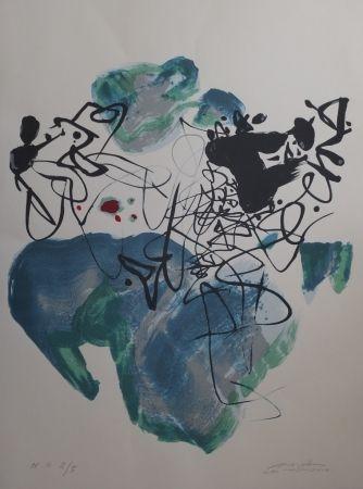 Litografía Chu Teh Chun  - Universal Peace