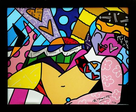 Serigrafía Britto - UNKNOWN (BEACH)