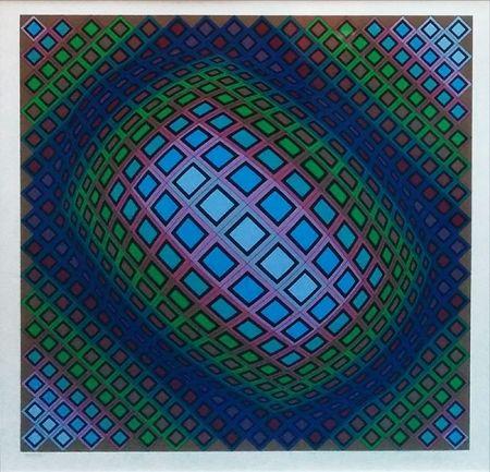Serigrafía Vasarely - UNKNOWN TITLE