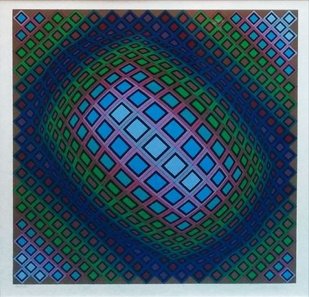 Serigrafía Vasarely - UNKNOWN TITLE