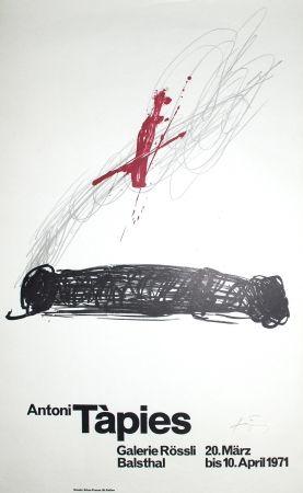Litografía Tàpies - Untitled