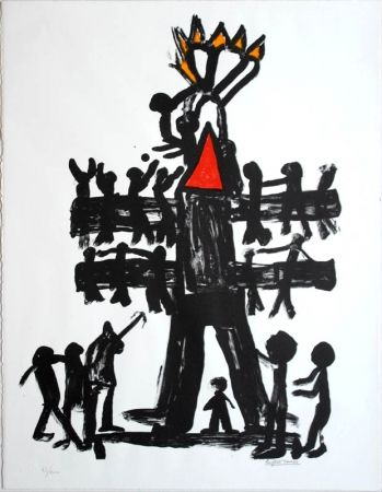Litografía Ionesco - Untitled