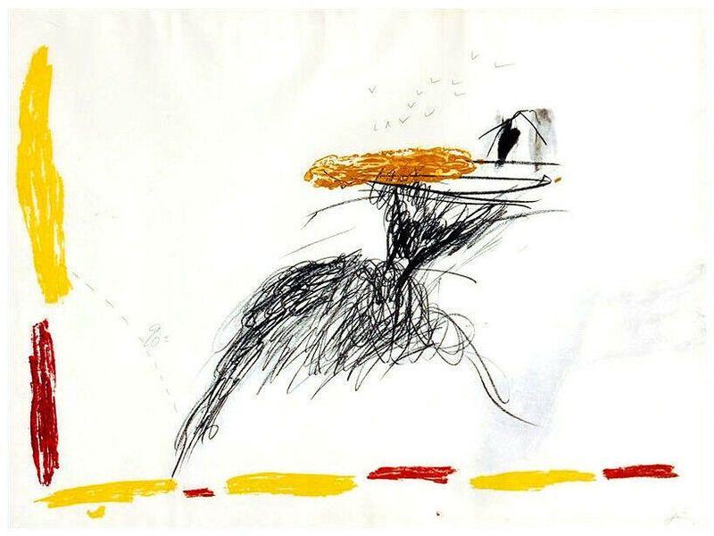 Grabado Tàpies - Untitled