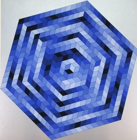Litografía Vasarely - Untitled