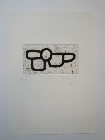 Aguatinta Chillida - Untitled