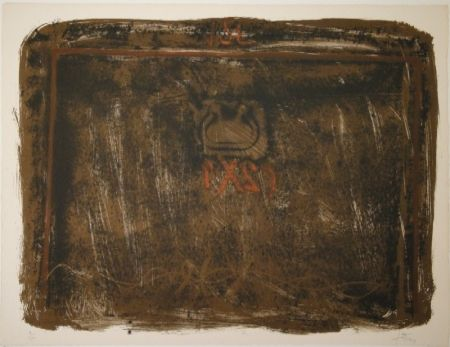 Litografía Tàpies - Untitled