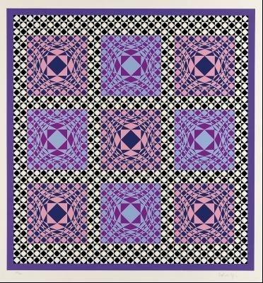 Serigrafía Vasarely - Untitled