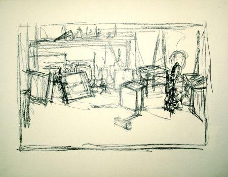 Litografía Giacometti - Untitled
