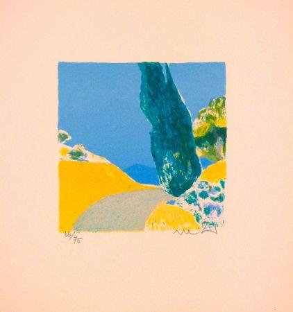 Litografía Muhl - Untitled