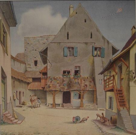 Litografía Stöcklin - Untitled