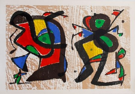 Grabado En Madera Miró - Untitled