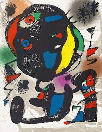 Litografía Miró - Untitled