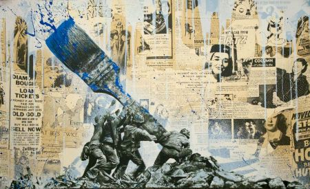 Serigrafía Mr Brainwash - Untitled