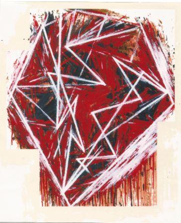 Serigrafía Bochner - Untitled