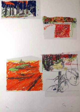 Litografía Schifano - UNTITLED