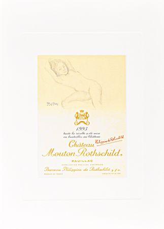Litografía Balthus - Untitled