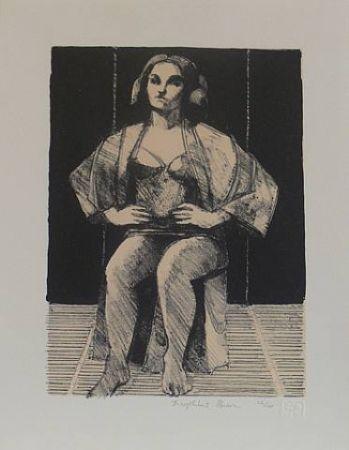Litografía Brown - Untitled-(Seated Portrait)