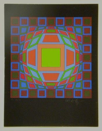 Serigrafía Vasarely - Untitled #4