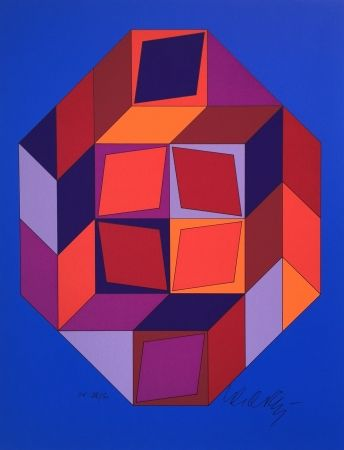 Serigrafía Vasarely - Untitled #7