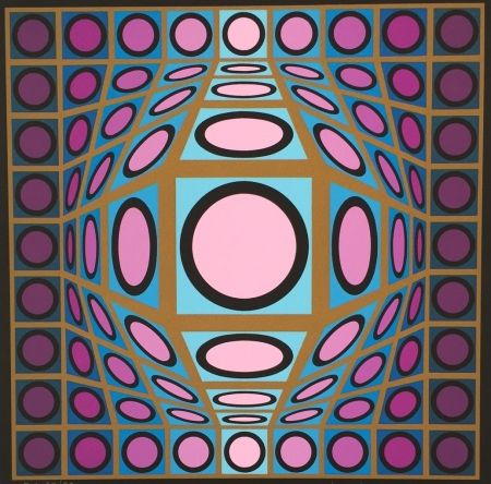 Serigrafía Vasarely - Untitled #8