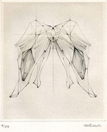 Grabado Bellmer - Untitled abstraction