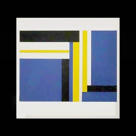 Serigrafía Bolotowsky - Untitled (Blue)