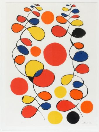 Litografía Calder - Untitled (Composition With Spirals And Circles)