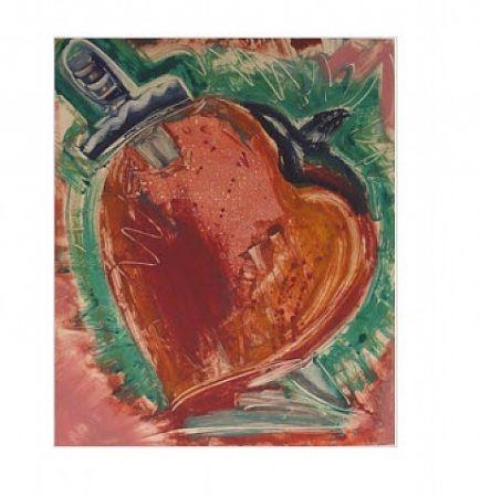 Monotipo Flores - Untitled, Daggar in Heart