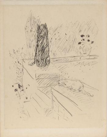 Aguafuerte Bonnard - Untitled (Dog and Cat)