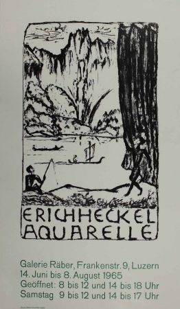 Litografía Heckel - Untitled (Exhibition poster)