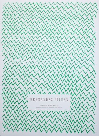 Litografía Hernandez Pijuan - Untitled (Exhibition poster)