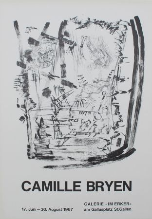 Litografía Bryen - Untitled (Exhibition poster)