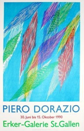 Litografía Dorazio - Untitled (Exhibition poster)