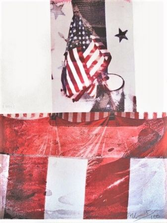 Litografía Rauschenberg - Untitled (For Kennedy)