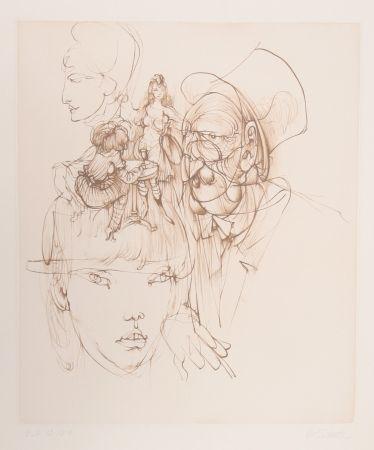 Grabado Bellmer - Untitled (from Alice in Wonderland)