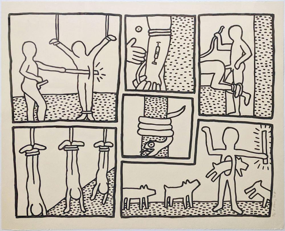 Serigrafía Haring - UNTITLED (FROM BLUEPRINT DRAWINGS)