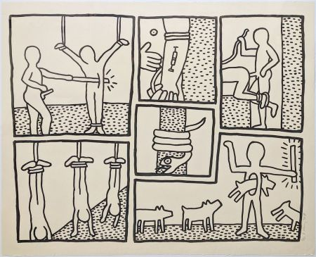 Serigrafía Haring - UNTITLED (FROM BLUEPRINT DRAWINGS)
